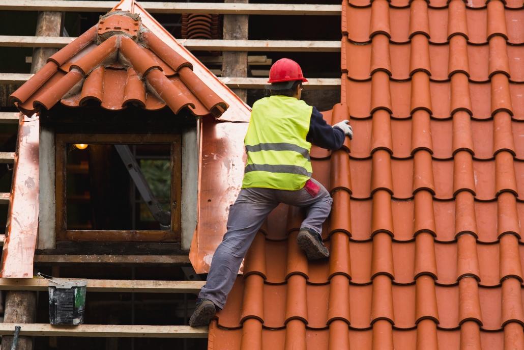 Travaux sur une toiture