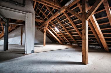 Pose de faux plafond dans les combles