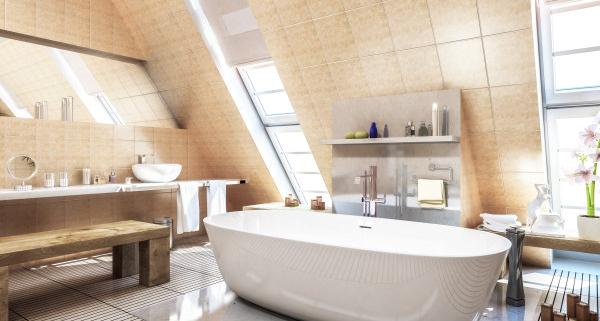 Conseils d'aménagement de baignoire sous pente